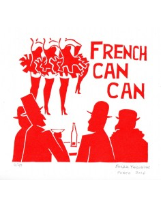 French CanCan - Linogravura...